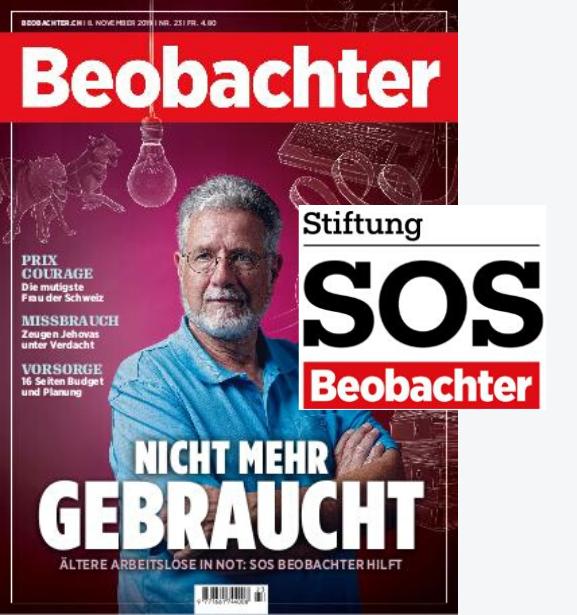 Beobachter-Geschenkabo inkl. Spende an Stiftung SOS Beobachter