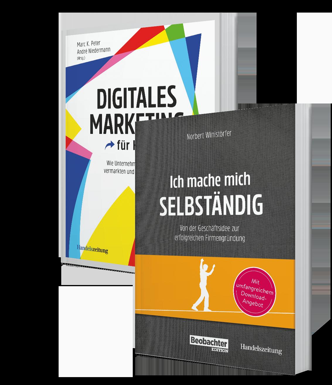 «Digitales Marketing für KMU» und «Ich mache mich selbständig»